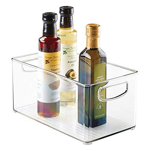 InterDesign Interdesign Home Kitchen Organizer Bin for Pantry Ohrstöpsel 9 Centimeters Schwarz (Black)