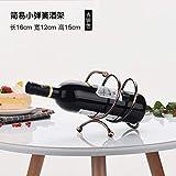 ZSWshop Dekoration Rotweinregal, Rotweinregal, Hochwertiger Wein, dekoratives Weinflaschengestell, europäisches Weinregal, Kleine Frühlingsbronze