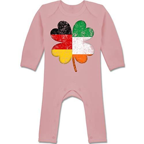 Kostüm Kleiner Kobold Mädchen - Shirtracer Anlässe Baby - Deutschland Irland Kleeblatt - 12-18 Monate - Babyrosa - BZ13 - Baby-Body Langarm für Jungen und Mädchen