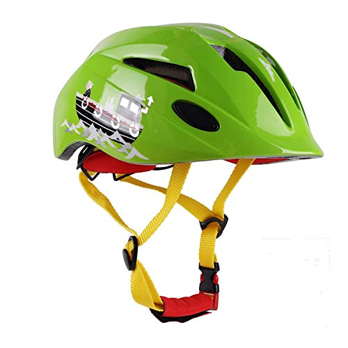ahrradhelm, CE-Zertifiziert Leichte Kinder Multi-Sport Radfahren/Skateboarding/Skating/Scooting Helm mit Verstellbaren Trägern für Jungen und Mädchen Sicherheitsschutz ()