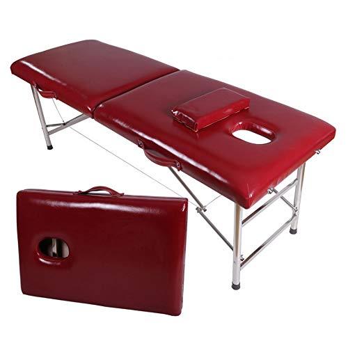 Angel Mobile Massageliege 2-teiliges tragbares leichtes Therapiesalon-Tattoo Reiki, das schwedisches Thai heilt massageliege klappbar höhenverstellbar (Farbe : F)
