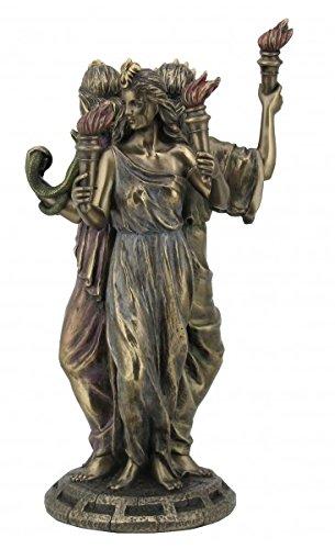 Griechische Göttin der Magie Hekate Figur bronziert Hexe Antike