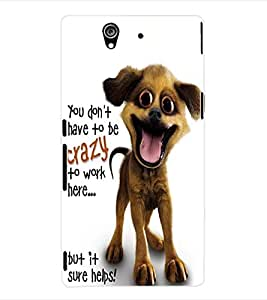 ColourCraft Crazy Dog Back Case Cover for SONY XPERIA Z - C6603 / C6602