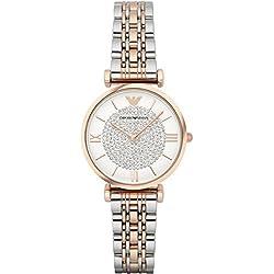 Emporio Armani Women's Quartz Watch with White Dial Analogue Display