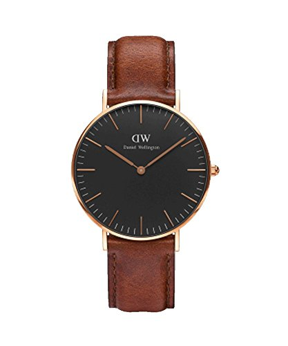 Daniel Wellington – Reloj Mujer 36 mm Daniel Wellington Classic Black Polperro Rose Gold dw00100136