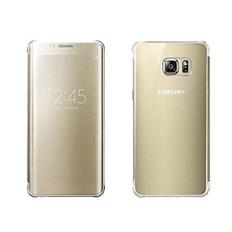 Samsung Galaxy S6 Edge PLUS Clear View Protective Flip Hülle Case Cover, gold