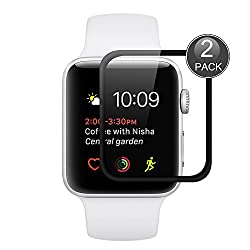 [2 Pack] Apple Watch Series 2 (38mm Size) Screen Protector, Wrcibo Premium Tempered Glass Screen Protector For Apple Watch Series 2 (38mm Size)