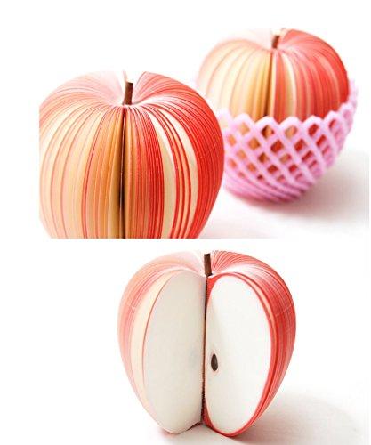 Foto de Bloc de notas autoadhesivas con forma de fruta, portátil, de Apple Post It Notas