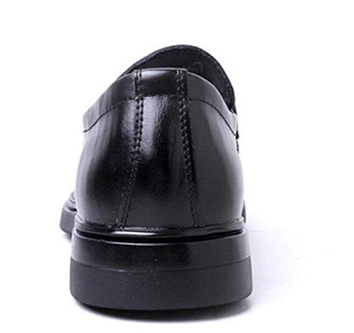 Scarpe In Pelle Autunno Pelle Scarpe Da Uomo Inghilterra Punta Business Scarpe Da Vestito Black