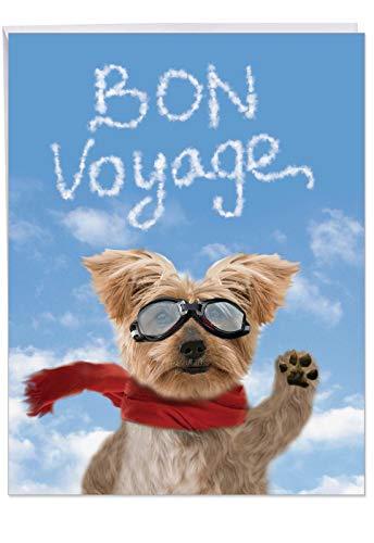 j6345bvg-us Jumbo Humorvolle Bon Voyage Karte aus alle von uns: Goodbye Hund, mit Umschlag (groß Größe: 21,6x 27,9cm) (Valentine Die Für Schule Karten)
