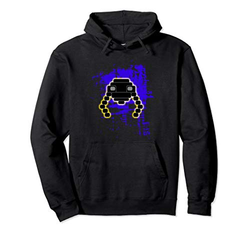 Nerd Video Gamer Classic Gaming Vintage Retro Alien Splatter Pullover Hoodie - Retro-gaming-pullover