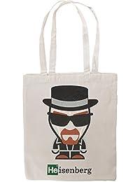 Breaking Bad Inspired Walter White Heisenberg Cartoon Figure Funny Tote Shopping Bag