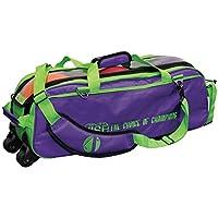 –Bolsa de bolos, Visegrip 3Roller Roller, triple en 12colores diferentes, para todos los pesos y Bolos pelotas, Verde / lila