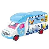 FBGood Set di Carrello di Crema ghiacciata per Bambini - Carrello per Gelato, Bambini educativi Pretend Play Early Learning Cucina Camion Grande Regalo per Bambini di età prescolare Ragazze Blu