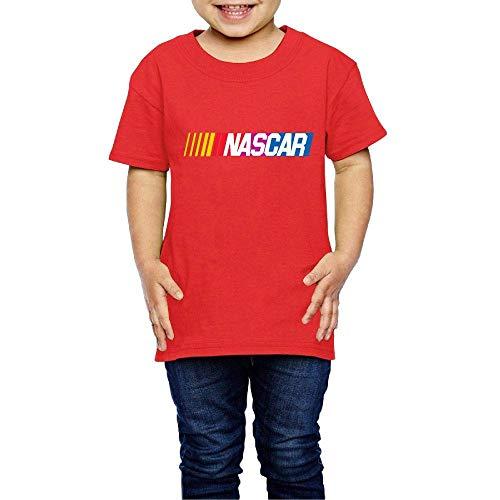 Kinder Jungen Mädchen Shirts NASCAR T Shirt Kurzarm T-Shirt Für Tollder Jungen Mädchen Baumwolle Sommer Kleidung Rot 2 T -