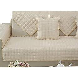 Divano copertine slipcovers reversibile trapuntata mobili protector originale antiscivolo resistente protettore slipcover della sedia schienale cover divano divano copre-IL Riso Bianco 110X160cm