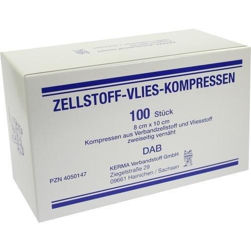 ZELLSTOFF VLIES KOMPRESSEN 8x10 cm unsteril 100 St Kompressen