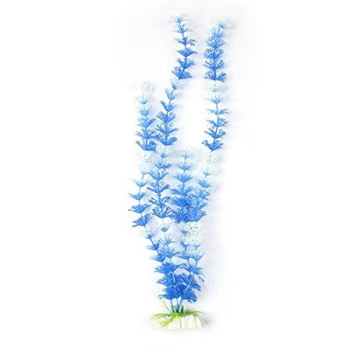 Kunststoff-Schneeflocke Blatt Pflanzen Weiß Blau 16