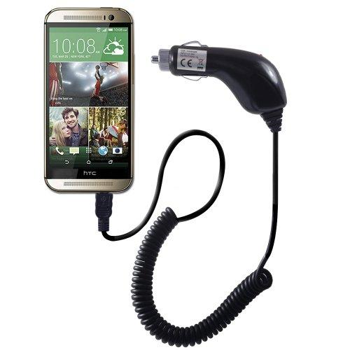 Orzly® CHARGE 'N' GO - HTC ONE Compatible KFZ-Ladegerät für ALLEN MODELLEN der HTC ONE Smartphone/ Handys (M8 / M7 / HTC ONE MINI / HTC ONE MINI 2) - Tragbare In-Car-Ladekabel mit Flexi-Blei-und Auto-Zigarettenanzünder mit Micro-USB-Anschluss (auch zum Laden geeignet MicroUSB anderen Smartphone oder Tablet-Geräte im Auto) (Htc One M8 Handy-ladegerät)