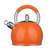 Premier Housewares Whistling Kettle, 2.4 Litre - Orange