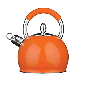 Premier Housewares Whistling Kettle, 2.4 Litre - Orange