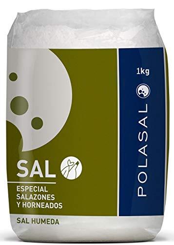 Meersalz grosskörnig - feucht - für Fisch - 100% natürlich - naturbelassenes Premium Speisesalz aus Spanien - Naturpark Salinas Polasal - 1Kg Packung