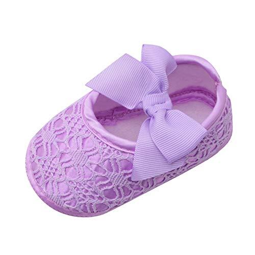 Mary Jane Dance Ballerina Hausschuhe für Baby Mädchen Kleinkind Säuglings OSYARD rutschfeste Spitze Floral Bowknot Weiß Taufe Schuhe Renaissance-baby Cup