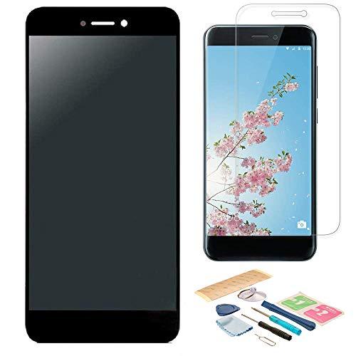 Pantalla LCD Táctil Asamblea Repuesto Compatible con Huawei P8 Lite Versión 2017 Negro con Herramientas + Película Templada Huawei P8 Lite 2017 + Adhesivo 3M