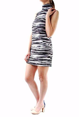 Keep Up Mini-robe Zebra Imprimer de Keepsake Femmes Blanc Noir Noir blanc