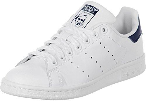 adidas Originals Stan Smith, Sneakers basses mixte adulte Blanc et bleu marine