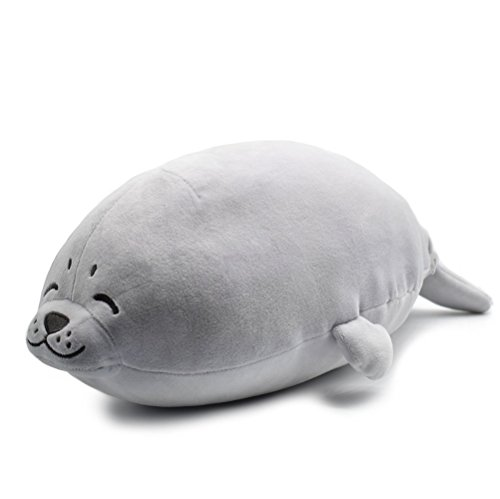 SUNYOU Stuffed Seal Animals Plush Toys (M, Seal)