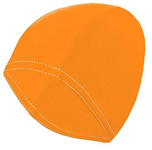 Gwinner Badekappe Schwimmkappe Damen - für lange Haare - elastisches Stretch-Material - Bathing Cap, Orange