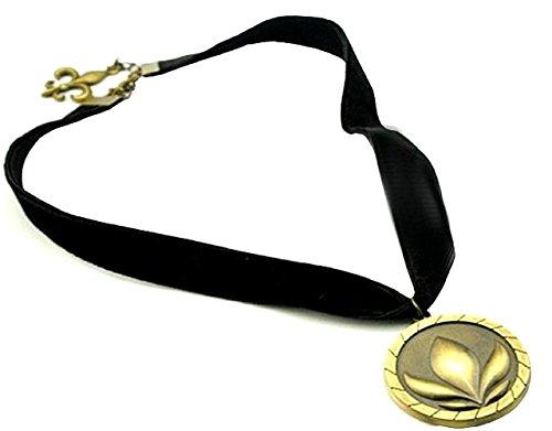 Anna Gefrorene Halskette Mit Medaillon Bronzefarbe Und Spitze Zu MäDchen MäDchen Baby MäDchen Baby MäDchen Samt Frau Frauen Olaf KöNigreich Cartoon Eis Griff