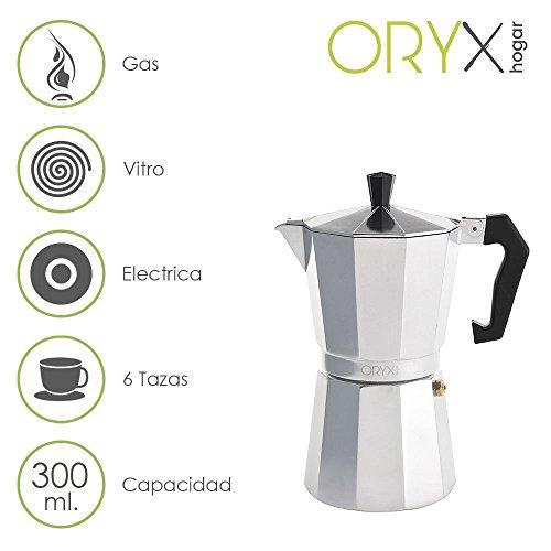 Oryx Cafetera Aluminio 6 Tazas, 300 ML
