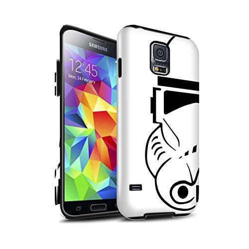 Stuff4 Lucidare Antiurto Custodia/Cover/Caso/Cassa del Telefono per Samsung Galaxy S5/SV/Clone Soldato/Assalto Soldato Casco Disegno