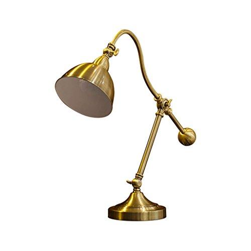 Bambus-harz-tischlampe (Verstellbare Tischlampe, Amerikanische Retro Industrielle windeAll Metall Dekoration Wohnzimmer Leselicht, Modepflege Auge Schlafzimmer bettseite Kopf Gold Licht)