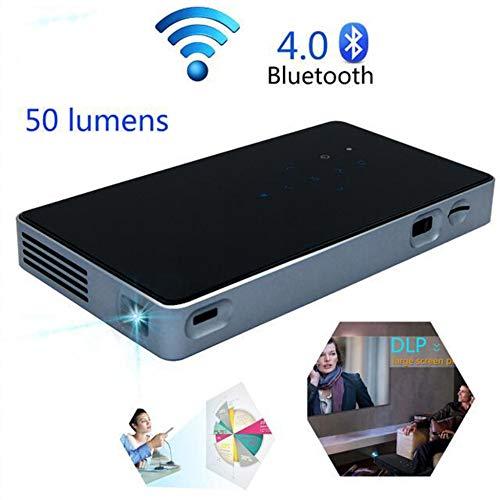 WANGOFUN Drahtloser Projektor, tragbarer Mini-Videoprojektor mit Bluetooth 4.0 Home Theater Projektor WiFi Kompatibel mit Laptop/Smartphone/HDMI/USB (Wireless Home Theater System Dvd)