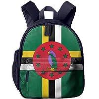Funny Schoolbag Backpack Flag of Dominica Kid and Toddler Student Backpack School Bag Super Bookbag