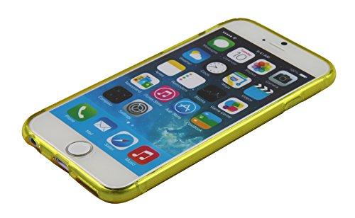 Luxburg® Glaze Design Schutzhülle für Apple iPhone 6 in Farbe Iris Violett / Lila, Hülle Case aus TPU Silikon Goldgelb / Gelb