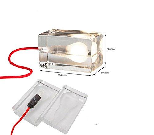 HEYUN& Einfache LED-Nachtlicht seltsame neue kreative Kunst Nachttischlampe Birne Brikett kleine Kinder Geburtstagsgeschenk ( Color : Rot )
