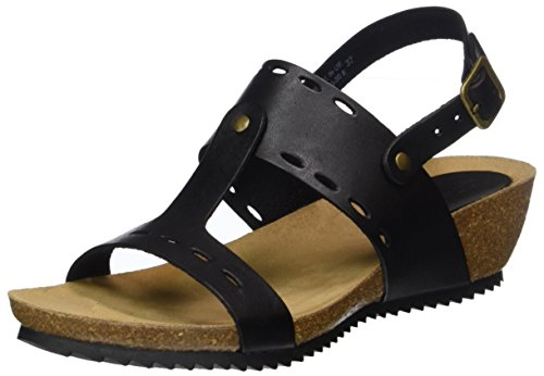 Colore Kicker Open Di Donna nero Sandali Toe Tokali xCUCqaFw