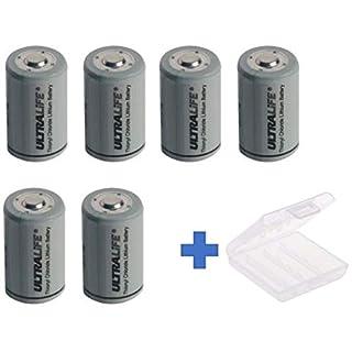 Akkuman.de Set 6X Ultralife Lithium 3,6V Batterie LS 14250-1/2 AA - UHE-ER14250 Li-SOCl2 + Box (6er + Box)