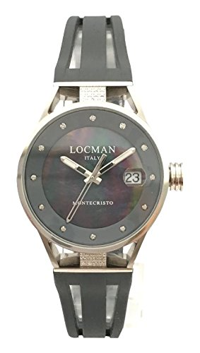 Locman Reloj Análogo clásico para Mujer de Cuarzo con Correa en Caucho 520V08D0MKIDSA