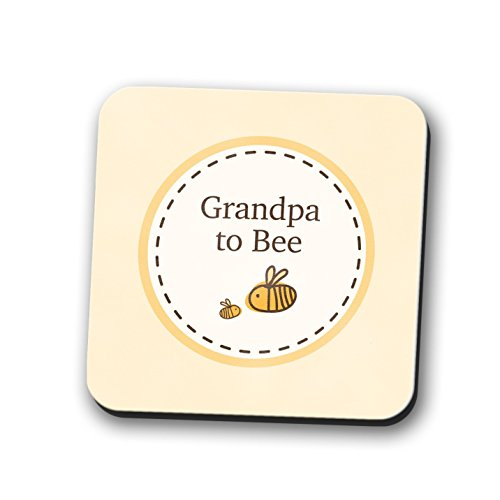Opa zu Untersetzer Tischset Neue Baby Dusche Geschenk Bumble Bee quadratisch 9cm x 9cm