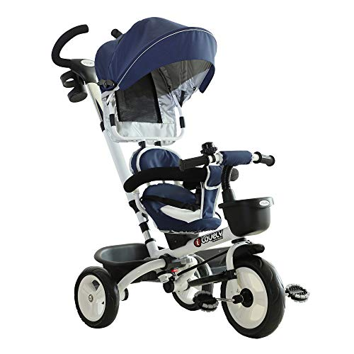 HOMCOM Triciclo Passeggino per Bambini
