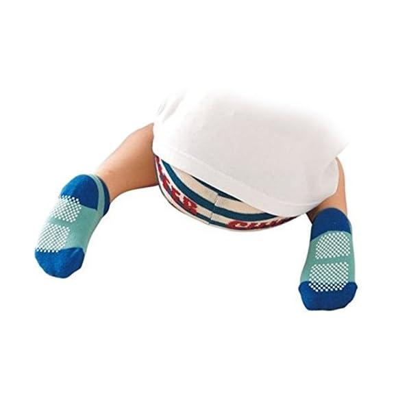 GOPOWD 6 pares Bebé Calcetines Antideslizantes ABS para los 1-36 Meses Niños Color Aleatorio 3