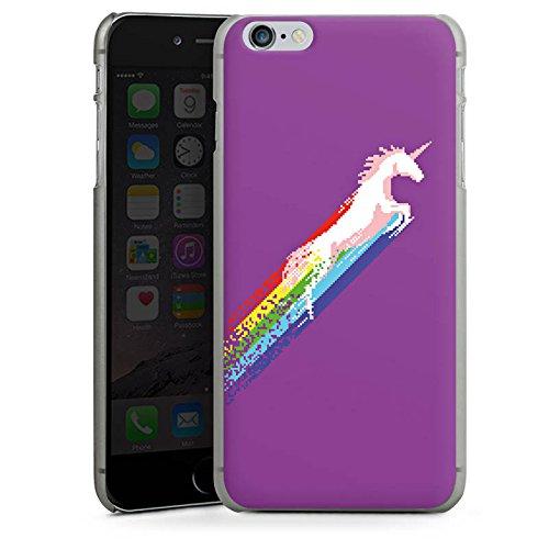 Apple iPhone X Silikon Hülle Case Schutzhülle Einhorn Unicorn Regenbogen Geschenk Hard Case anthrazit-klar
