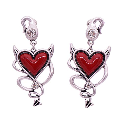 e Ohrringe Rot Liebe Ohrstecker Geburtstag Geschenk Hochzeit Jahrestag Valentinstag Halloween Weihnachten Mode übertriebene Ohrringe ()