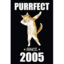 14th Birthday Dabbing Cat: Blank Lined Journal, Notebook, Diary, Planner Awesome Happy 14th Birthday