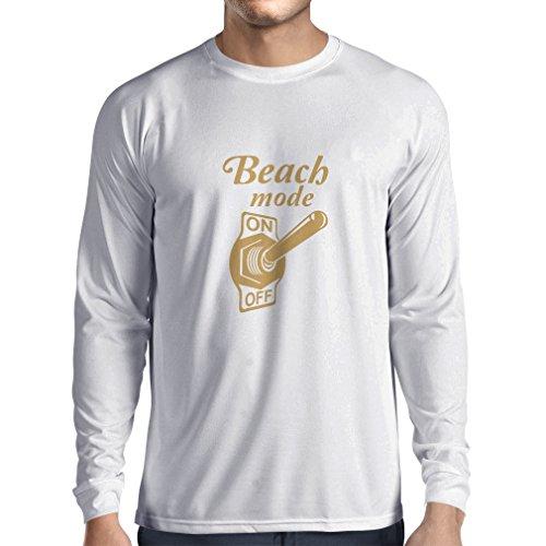 N4172L Strand-Modus auf lustiges Geschenk, Langarm T-Shirt Weiß Gold